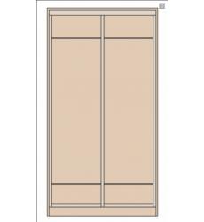 Шкаф-купе Сенатор 1200 без зеркал