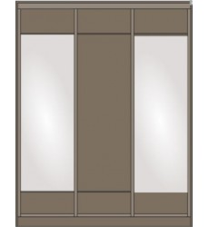 Шкаф-купе Сенатор 1760 с зеркалами