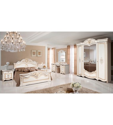 """Спальня """"Джулия 4"""" Белый с золотой патиной"""