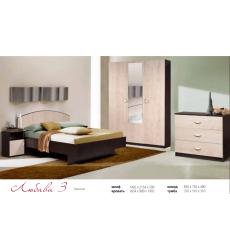 Спальня Любава 3 (3-х ств. шкаф)